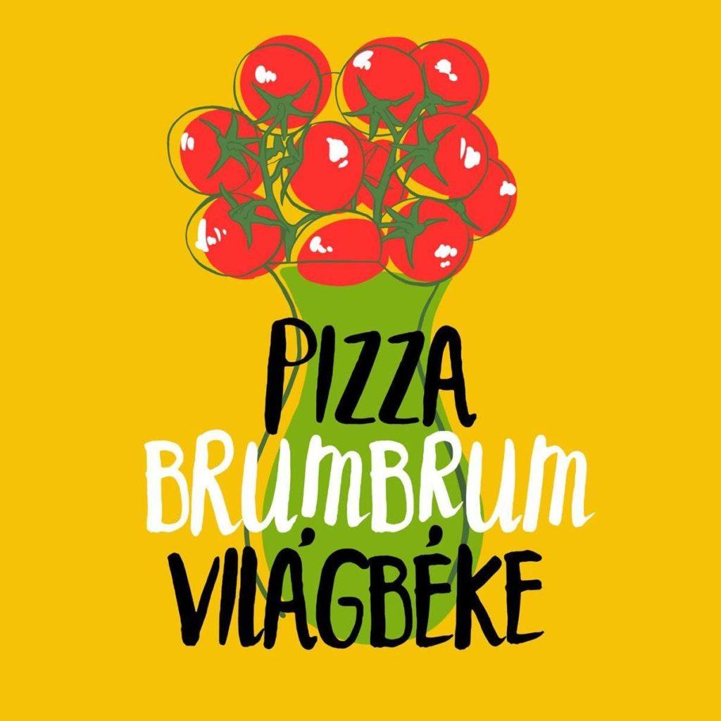 Pizza Kávé Világbéke logó